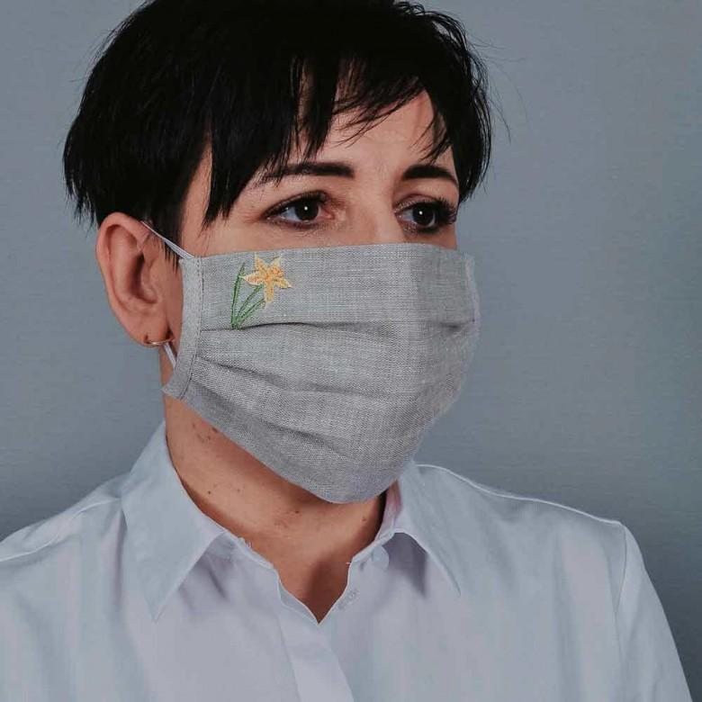 Захисна маска з тканини нарцис 106