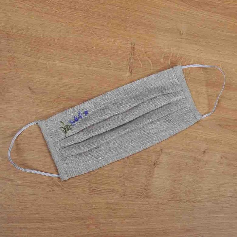 Захисна маска з тканини лаванда 107