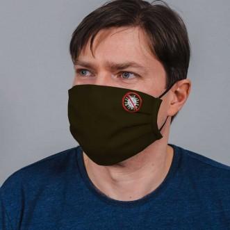 Защитная маска многоразовая из ткани NoVirus хаки L