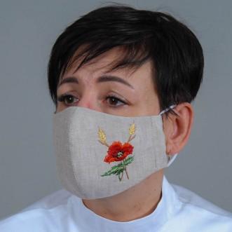 Женская маска-пита Мак серый лен