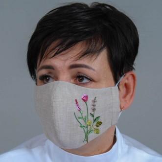 Жіноча маска-піта Трави сірий льон