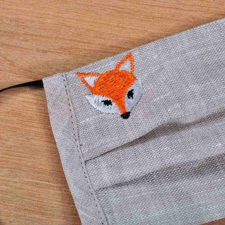Захисна маска з тканини для підлітків Лисеня