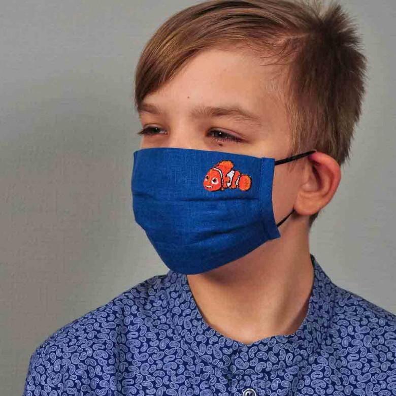 Захисна маска з тканини для хлопчика НЕМО