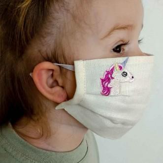 Захисна маска для дівчинки ЄДИНОРІГ