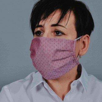 Захисна маска з тканини червона арт. 010