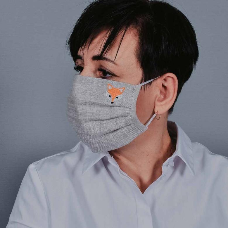 Захисна маска з тканини лисеня 108