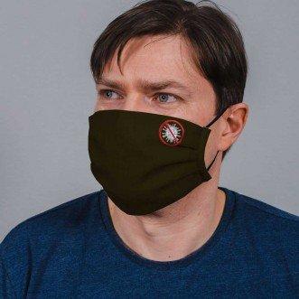 Захисна маска багаторазова з тканини NoVirus хакі L