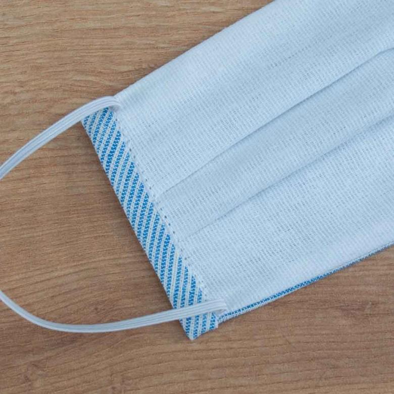Маска захисна підліткова з тканини Стрекоза смугастий льон