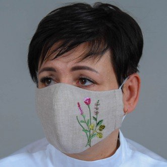 Женская маска-пита Травы серый лен
