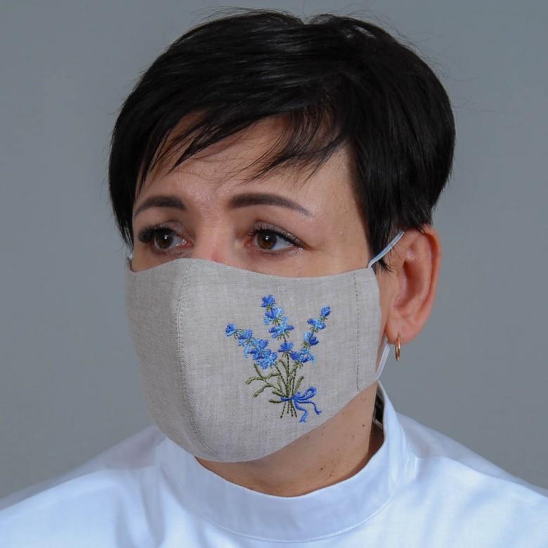 Набір захисних масок Лаванда 3шт. (сірий льон)
