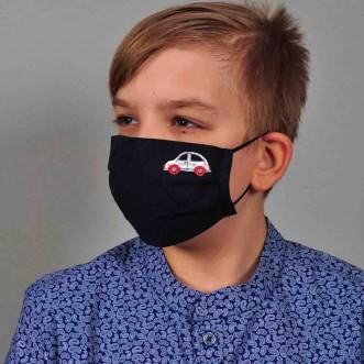Защитная маска тканевая для мальчика МАШИНКА