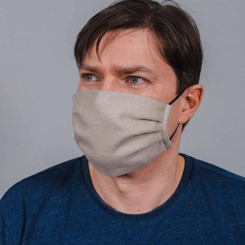 Захисна маска з тканини хакі 014