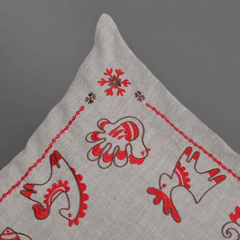 Наволочка декоративна ТРИПІЛЬСЬКА ІГРАШКА 40*40 см сірий