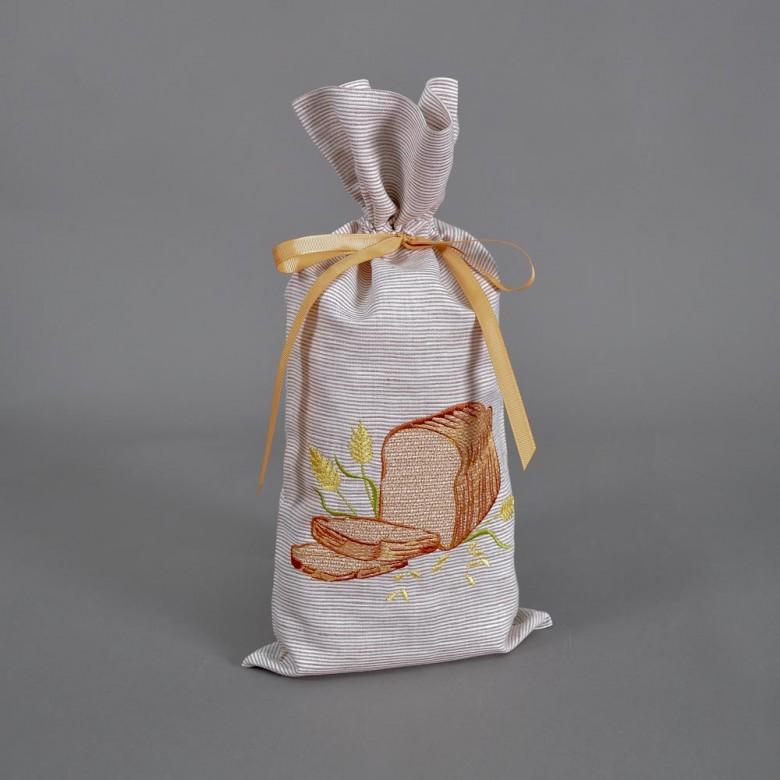 Торбинка для хліба БОРОДИНСЬКИЙ 43*20 см смужки
