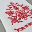 Вишитий рушник ДОРОГА ЖИТТЯ червоний 150*28 см
