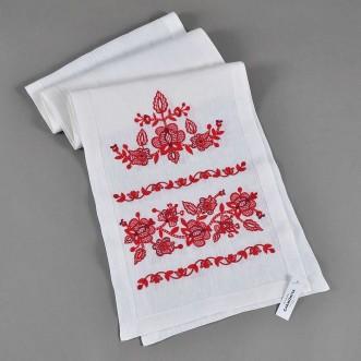 Вишитий рушник ДОРОГА ЖИТТЯ червоний 200*35 см