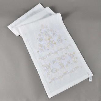 Вишитий рушник ДОРОГА ЖИТТЯ білий 250*45 см