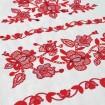 Вишитий рушник ДОРОГА ЖИТТЯ червоний 250*45 см