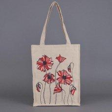 Вышитая сумка МАКИ МОДЕРН 34*42 см