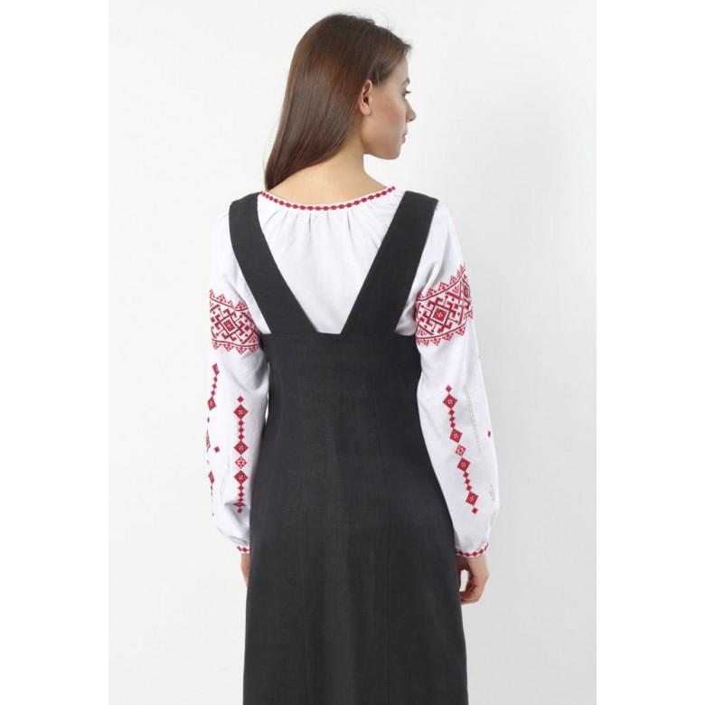 Сорочка жіноча КОЗАЧКА червона р.44