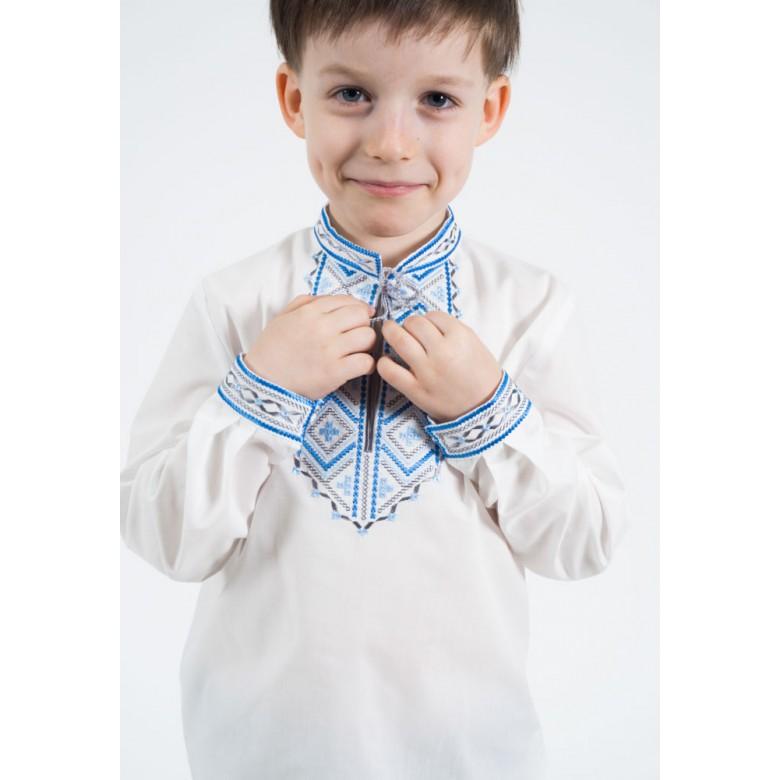 Вишиванка для хлопчика Диканька синя р.122-146 (бавовна 65%)