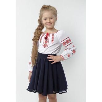 Вишиванка для дівчинки МАРIЧКА червона збірка р.086