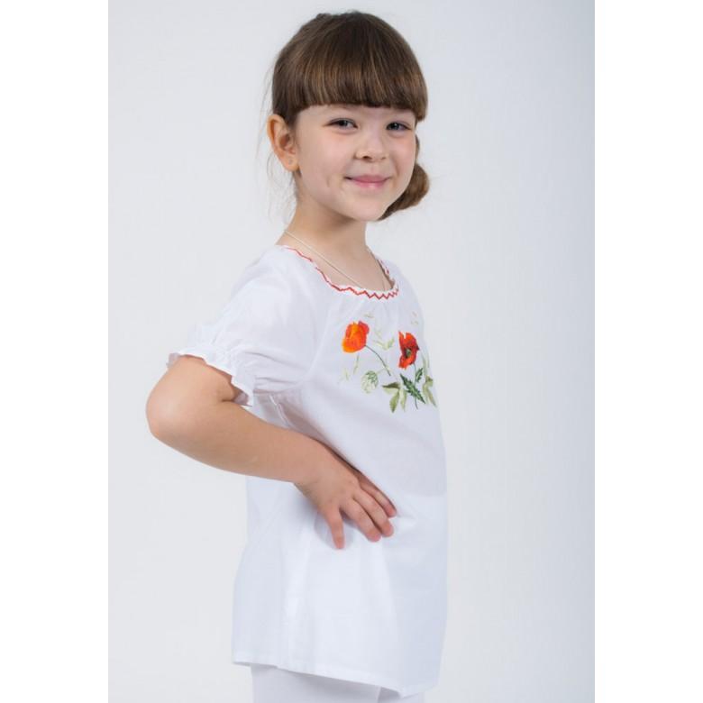 Блуза вишита МАКИ р.116 збірка короткий рукав