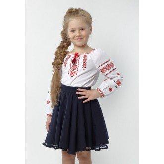 Вишиванка для дівчинки МАРIЧКА червона збірка р.098