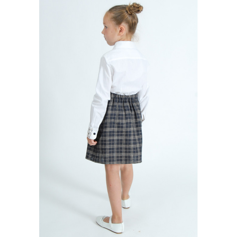 Вишита сорочка для дівчинки Гармонія бежева р.122-146 (бавовна 65%)