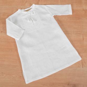 Рубашка для крещения младенца белая р.74-98 (белый лен)