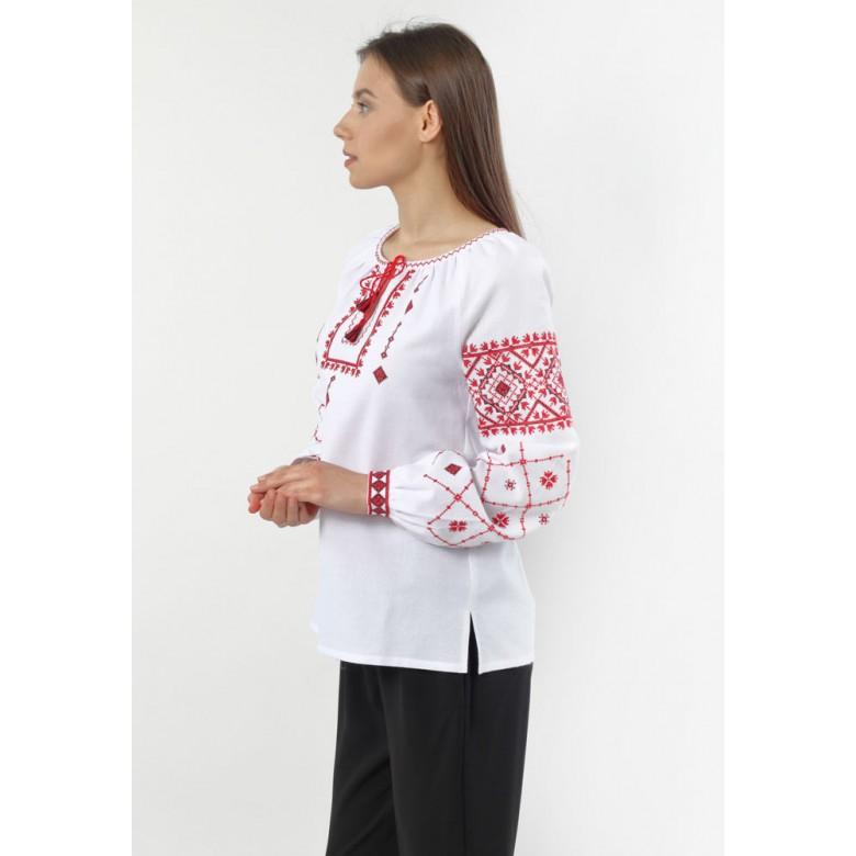 Сорочка жіноча СВЯТКОВА червона р.44