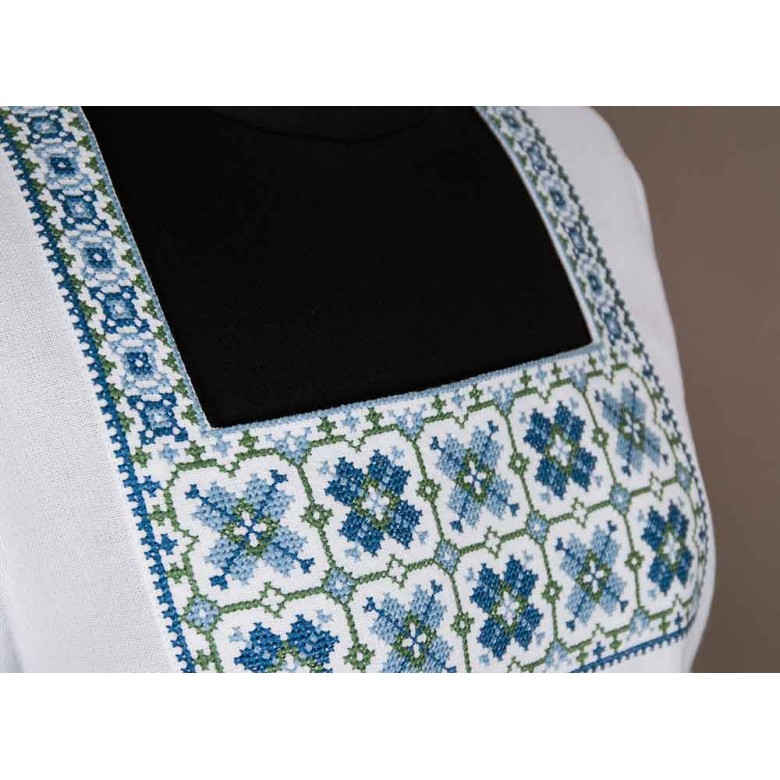 Туніка жіноча ПОЛЯНКА з мережкою блакитна р.44