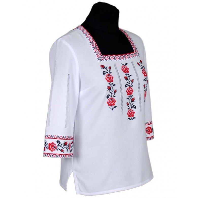 Туніка жіноча ТРОЯНДИ червона р.42