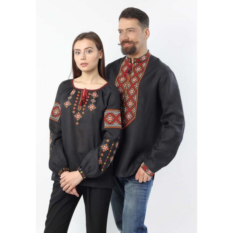 Сорочка жіноча КАРПАТСЬКІ МОТИВИ р.40